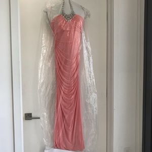 Caché Pink Halter Gown